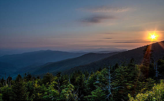 Sunset Smokey Mountains  by Kelly Marquardt