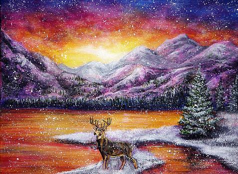 Sunset Snow by Ann Marie Bone