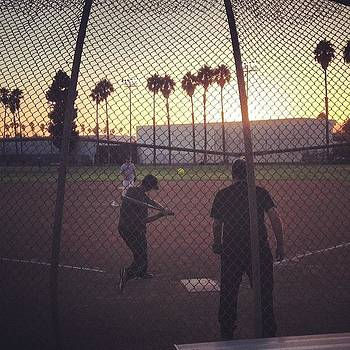 Sunset Softball In #santamonica 🙌 by Julian Schor
