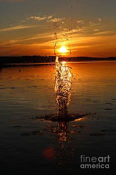 Sunset splash by Markus Hovikoski