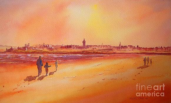 Sunset St Andrews Scotland by Beatrice Cloake