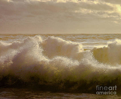 Sunset Storm Surf by David Doucot