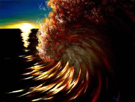 Sunset Surf by Garbis Bartanian