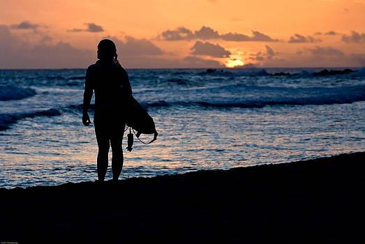 Sunset Surfer by Scott Slattery