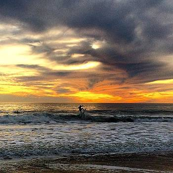 Sunset Surfing #surf #surfing by Julia Goldberg