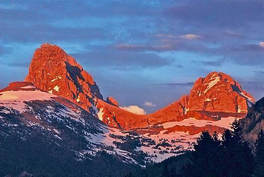 Sunset Teton's Backside by Larry Bodinson