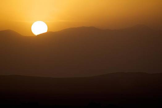 Sunset The Ruby Mountains Wells Nevada by Michael Rogers