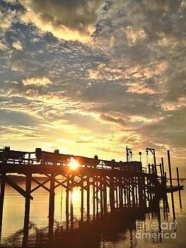 Sunset Through Pier by Stephanie  Varner