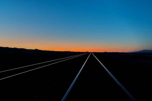 Sunset Tracks by Colin Sands
