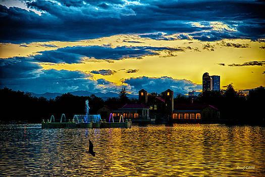 Sunset View Denver's City Park by Stephen  Johnson