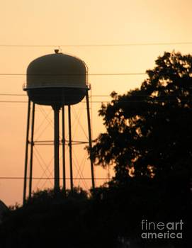 Sunset Water Tower by Joseph Baril
