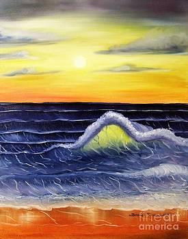 Sunset Wave by Barbara Pelizzoli