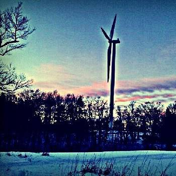 #sunset #wind #windmill #sky #beautiful by Laura Vaillancourt
