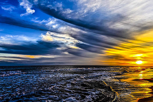 Sunset with Blue Sky by Gej Jones