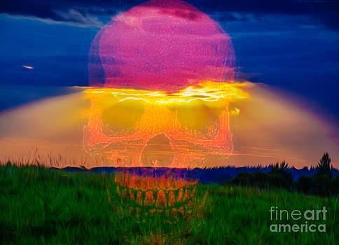 Algirdas Lukas - Sunset with skull