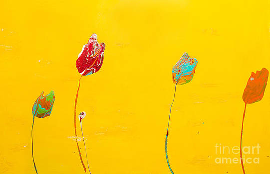 Sunshine Lollipop Flower by Laura Warburton