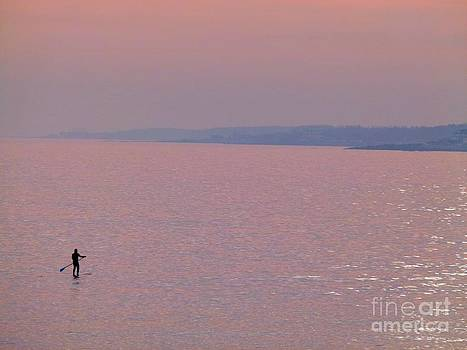 Christine Stack - SUP on the Ocean at Sunset