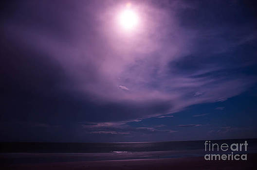 Super Moon over the Gulf of Mexico by Shawn  Bowen