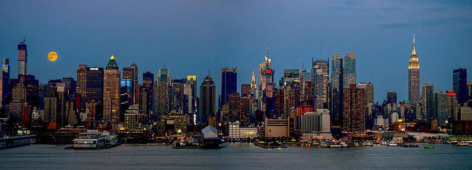 Super Moon Panorama by Andrew Kazmierski