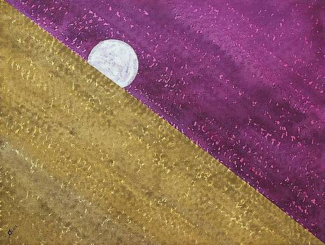 Supermoon original painting by Sol Luckman
