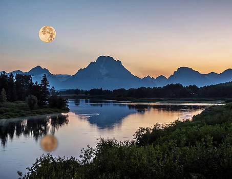 Randall Branham - SUPERMOON SNAKE RIVER REFLECTION