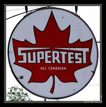 Gail Matthews - Supertest All Canadian Vintage Sign