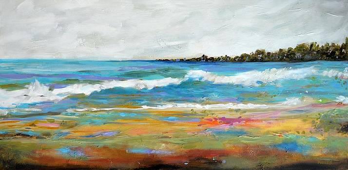 Original Painting Huge SURF by Karen Fields