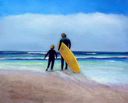 Surf lesson by Jennifer Richards
