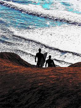 Surf riders by Donna Hays