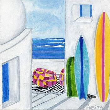 Surfboards Paradise by Adelita Pandini