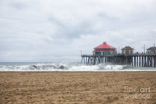 Surfer at the Pier by Susan Gary
