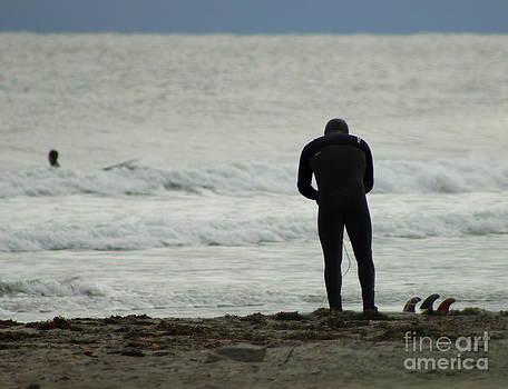 Surfer Prepares by Ellen Ryan