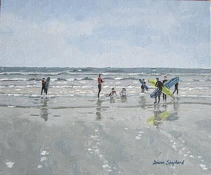 Surfers by Diana Shephard