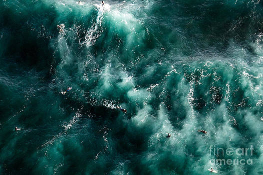 Surfers From Above by Felix Bahamonde