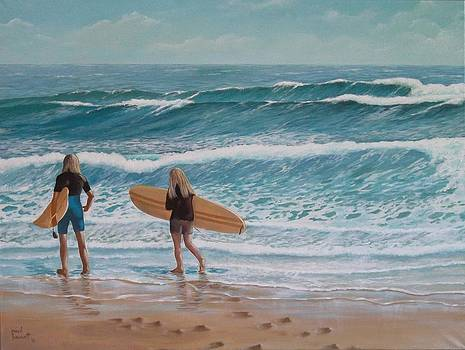 Surfers two by Paul Bennett