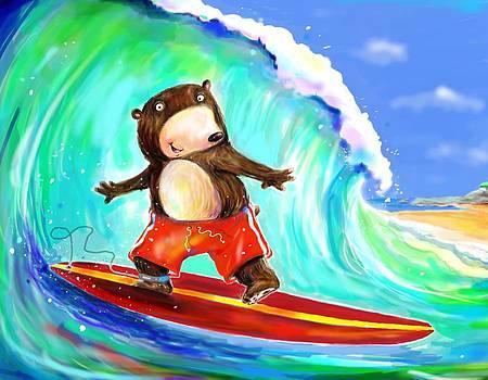 Surfing Bear by Scott Nelson