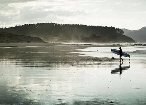 Surfing in New Zealand by Joe Wigdahl