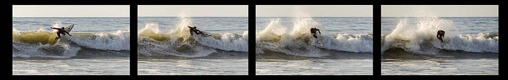 Surfing Sequence Four Shots by Maureen E Ritter