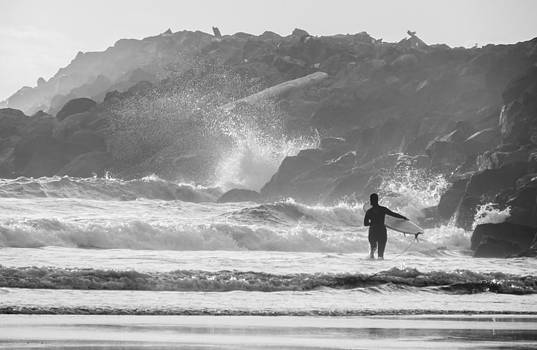 Surfing the Jetty  by Kristal Talbot