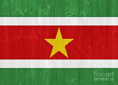 Suriname flag by Luis Alvarenga