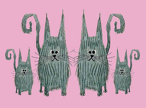 Surprised Cats II by Donovan OMalley