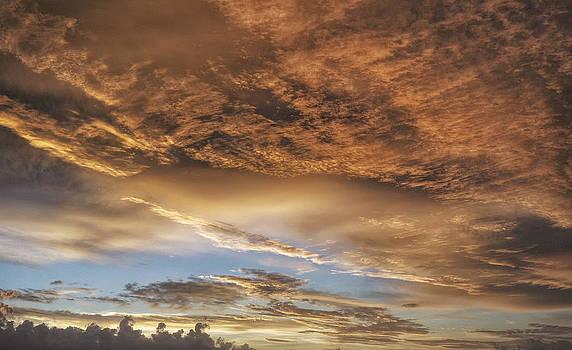 Surrealistic Pillow Sunrise Sunset Image Art by Jo Ann Tomaselli