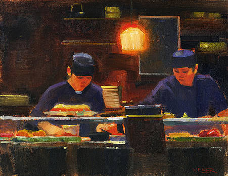 Sushi Chefs by Kathleen Weber