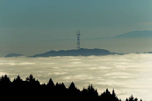 San Francisco's Sutro Tower across the Sea of Fog by G Matthew Laughton