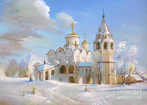 Suzdal. Pokrov Cathedral by Roman Romanov