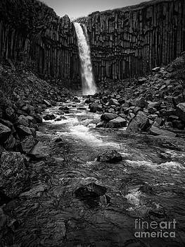 Svartifoss waterfall in black and white by IPics Photography
