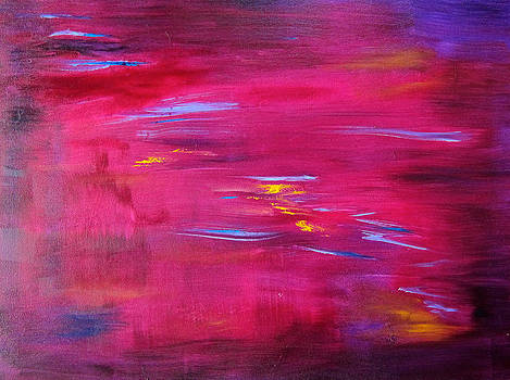 SW Alpenglow abstract by Kathryn Barry