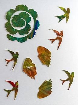 Swallows in flight by Paula Sche-Baldwin