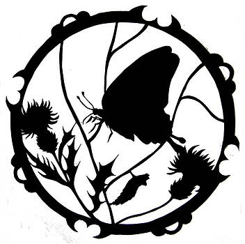 Swallowtail Butterfly Silhouette by Dale Jackson