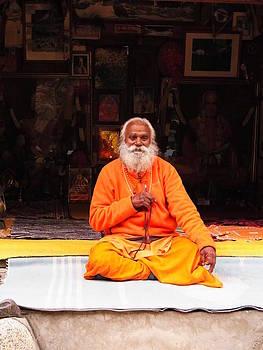 Swami Sundaranand At Tapovan Kutir 1 by Agnieszka Ledwon